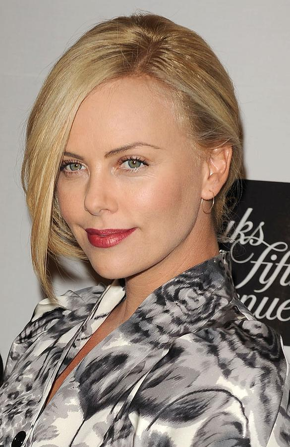 Charlize Theron At In-store Appearance Photograph