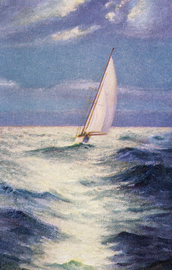 Chas Marer - Sailboat Painting  - Chas Marer - Sailboat Fine Art Print