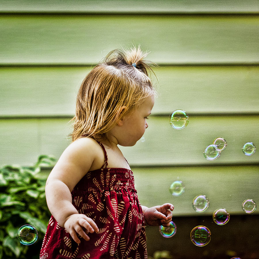 Chasing Bubbles Photograph