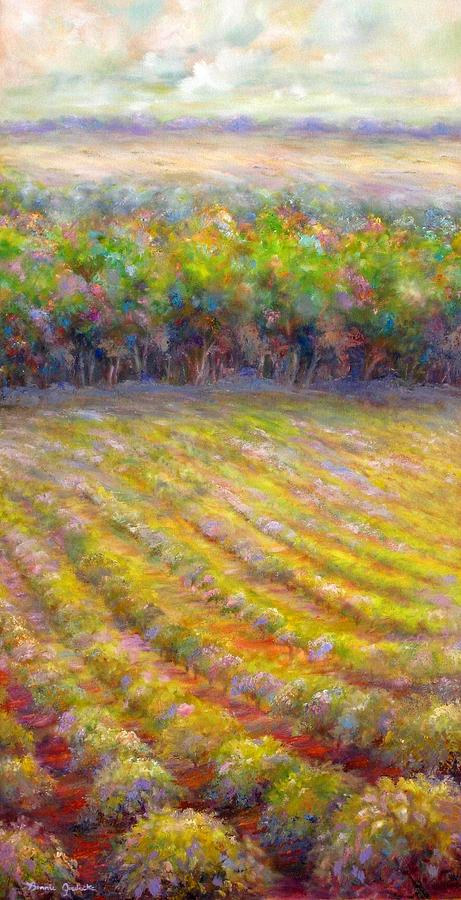 Chateau De Berne Vineyard Painting