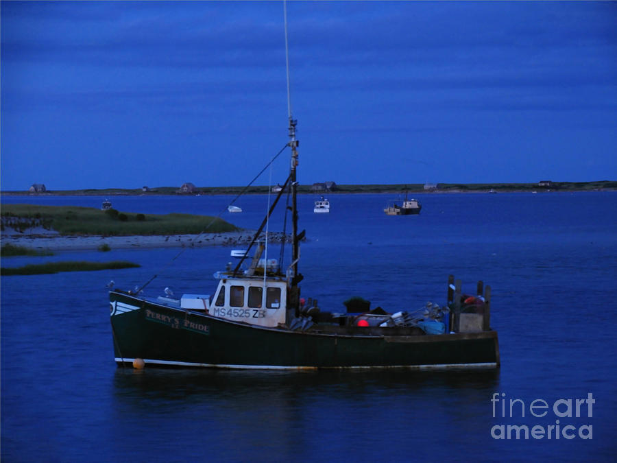 Chatham Pier Fisherman Boat  Photograph  - Chatham Pier Fisherman Boat  Fine Art Print