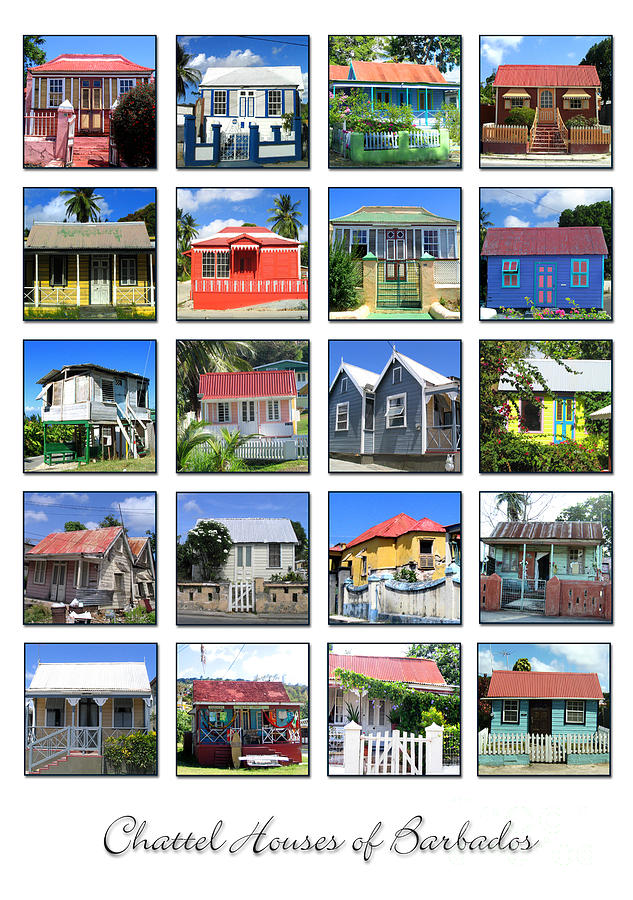 Chattel Houses Of Barbados Photograph