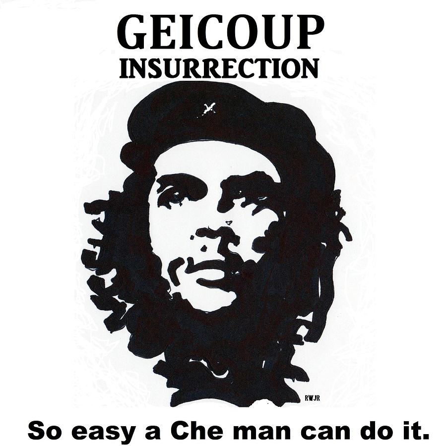 Che Man Drawing  - Che Man Fine Art Print