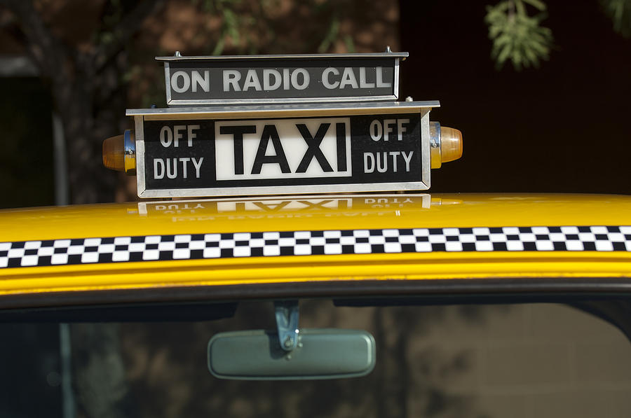 checker taxi cab duty sign 2 photograph by jill reger. Black Bedroom Furniture Sets. Home Design Ideas