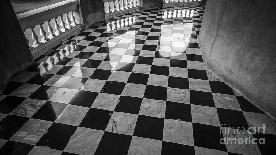 Checkered Marble Floor Pattern Photograph