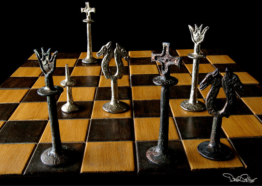 Chessboard Still-life Photograph - Checkmate by David Salter