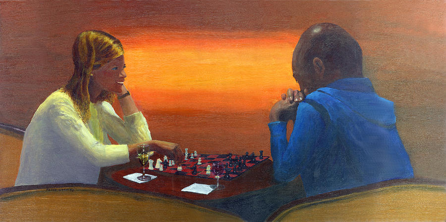 Bar Painting - Checkmate by Peter Worsley