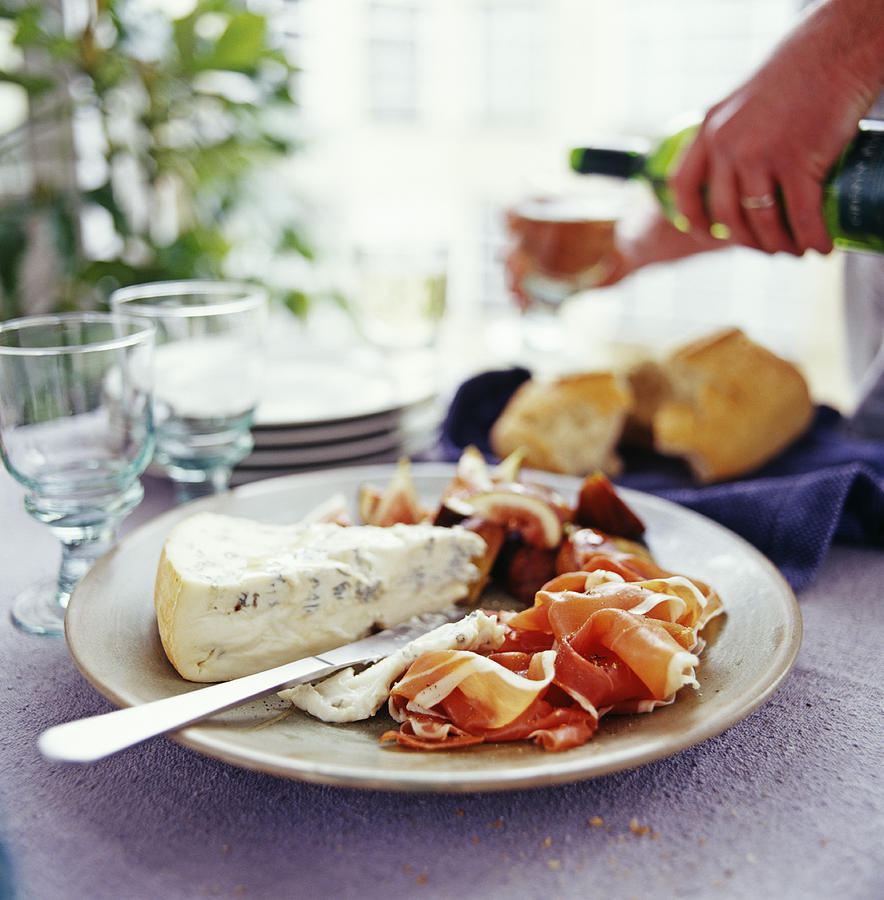 Cheese And Ham Meal Photograph