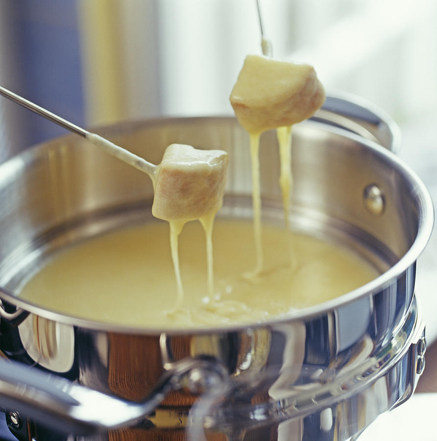 Cheese Photograph - Cheese Fondue by David Munns