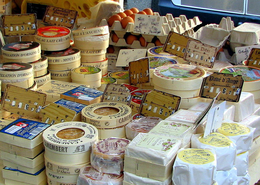Cheese For Sale Photograph