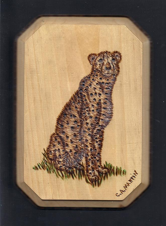 Cheetah Pyrography
