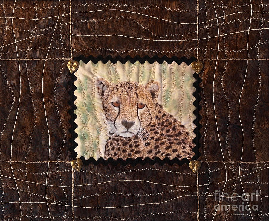 Cheetah Face Tapestry - Textile  - Cheetah Face Fine Art Print