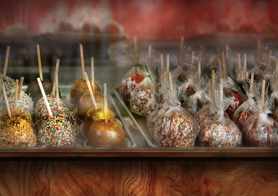 Chef - Caramel Apples For Sale  Photograph  - Chef - Caramel Apples For Sale  Fine Art Print