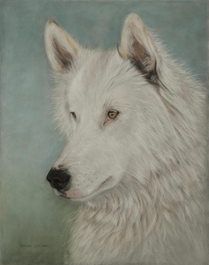 Wolf Painting - Chenoa by Teresa LeClerc