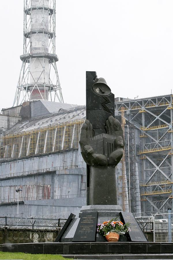Chernobyl Power Station Monument Photograph