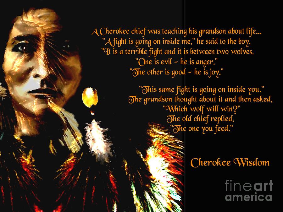 Cherokee Wisdom Digital Art: fineartamerica.com/featured/cherokee-wisdom-saleires-art.html