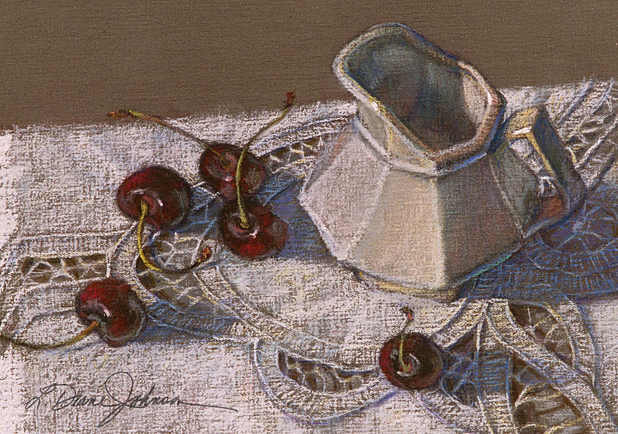 Cherries N Cream Painting  - Cherries N Cream Fine Art Print