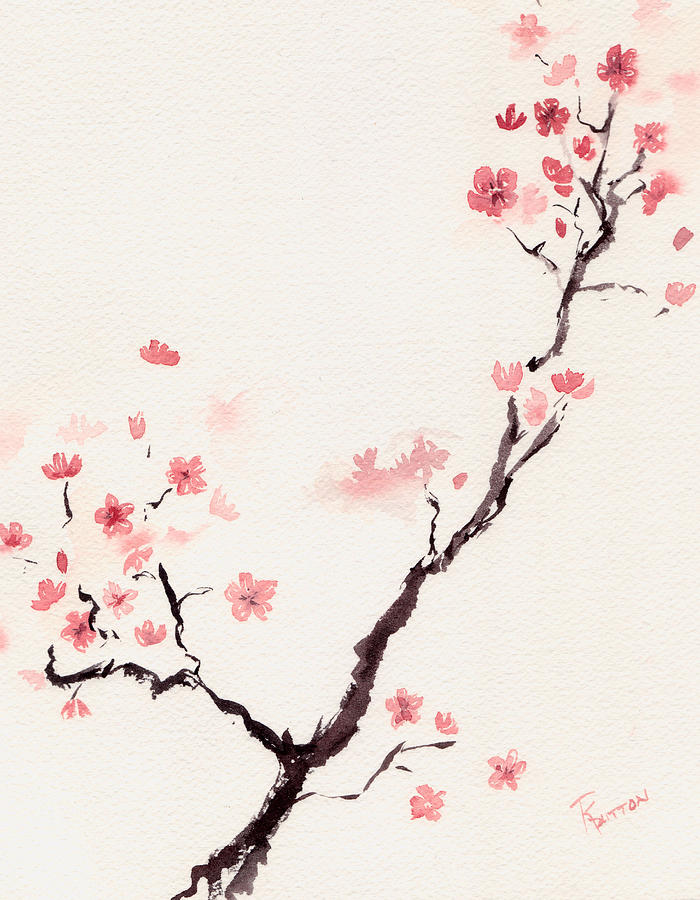Japanese cherry blossom painting best hd pictures and for Cherry blossom mural works