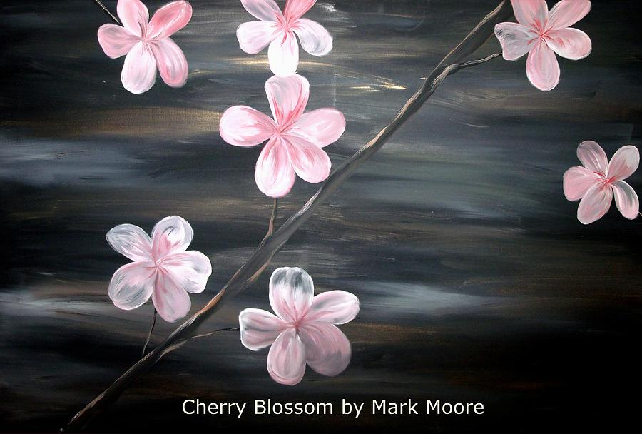 Cherry Blossom By Mark Moore Painting  - Cherry Blossom By Mark Moore Fine Art Print