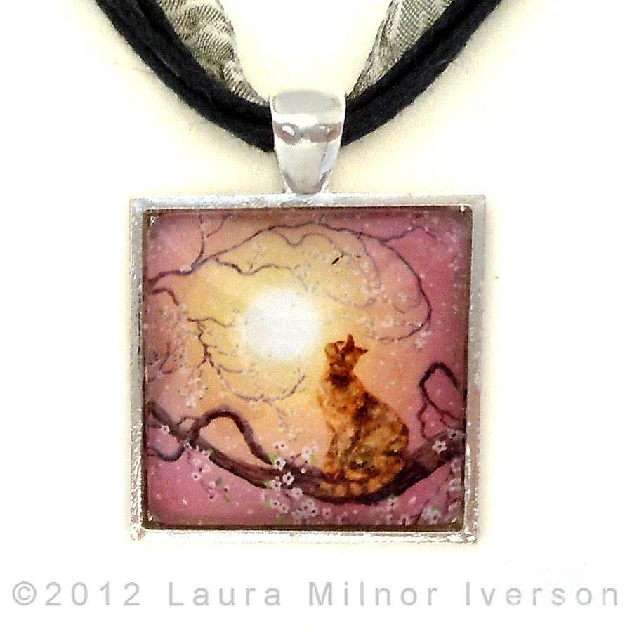 Cherry Blossom Waltz Handmade Pendant Jewelry