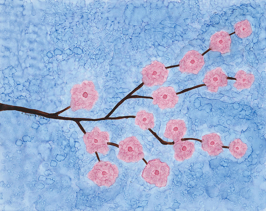 Cherry Blossoms Branch Painting  - Cherry Blossoms Branch Fine Art Print