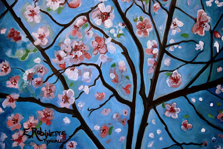 Cherry Blossoms In Bloom Painting