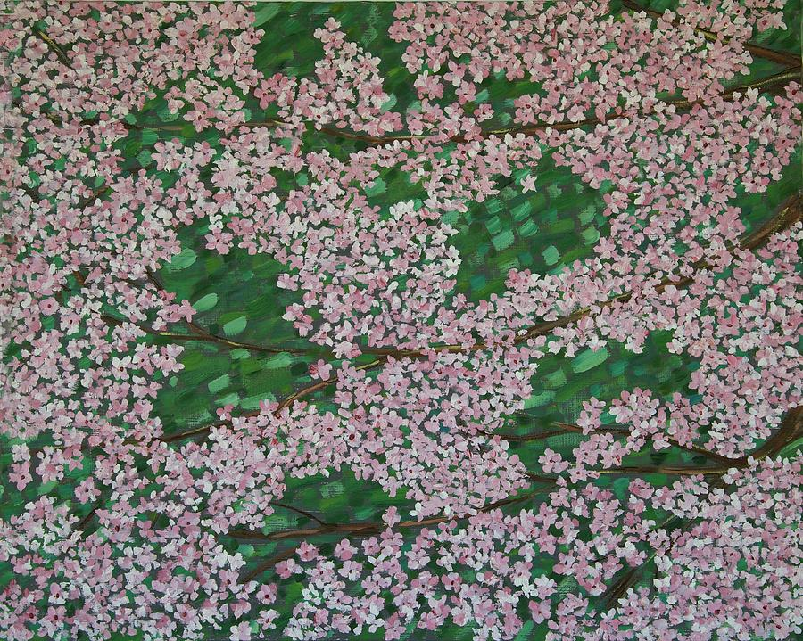 Cherry Blossoms Painting - Cherry Blossoms by Karen Alonge