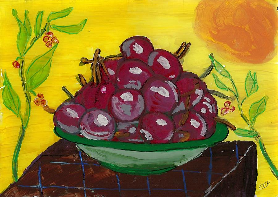 Cherry Bowl Painting  - Cherry Bowl Fine Art Print