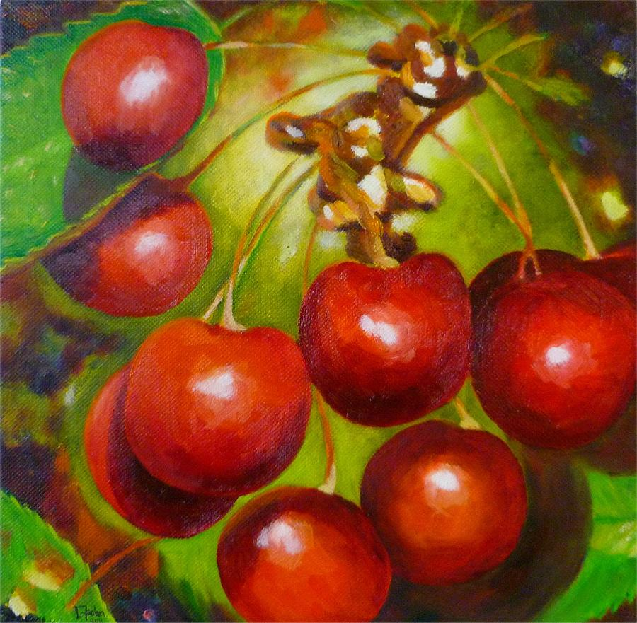Cherry Painting - Cherry Christmas by Lorraine Fenlon