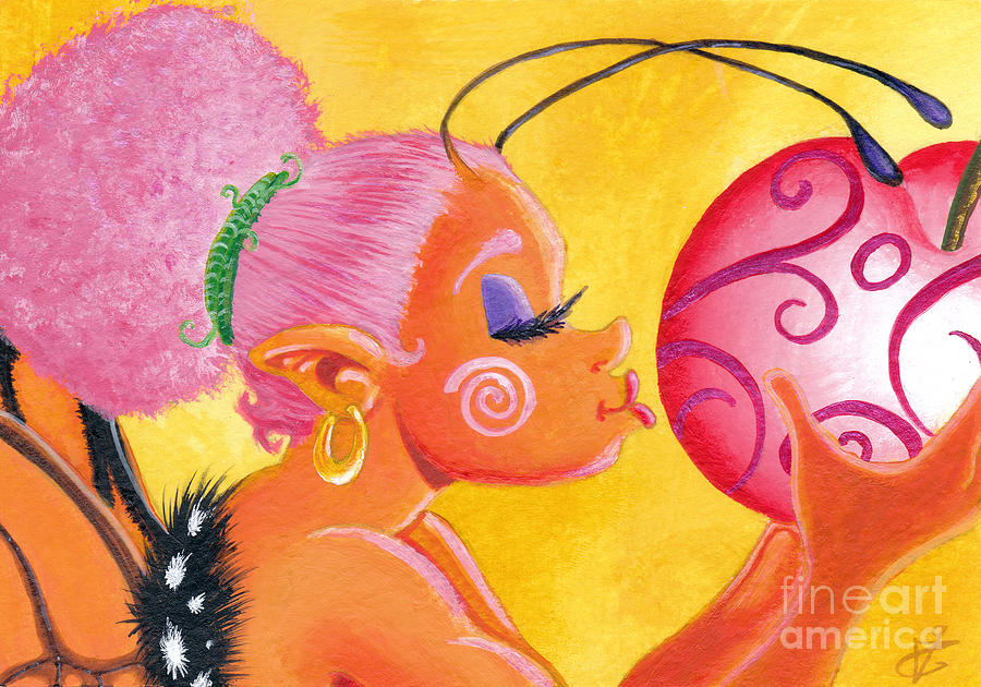 Cherry Kiss Painting  - Cherry Kiss Fine Art Print