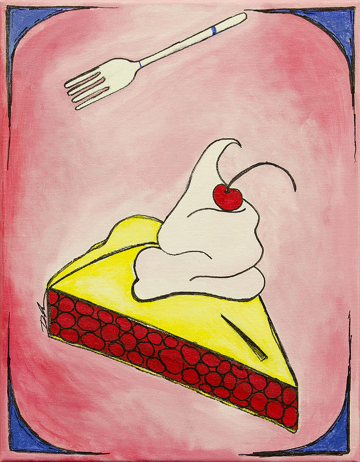 Cherry Pie Painting  - Cherry Pie Fine Art Print