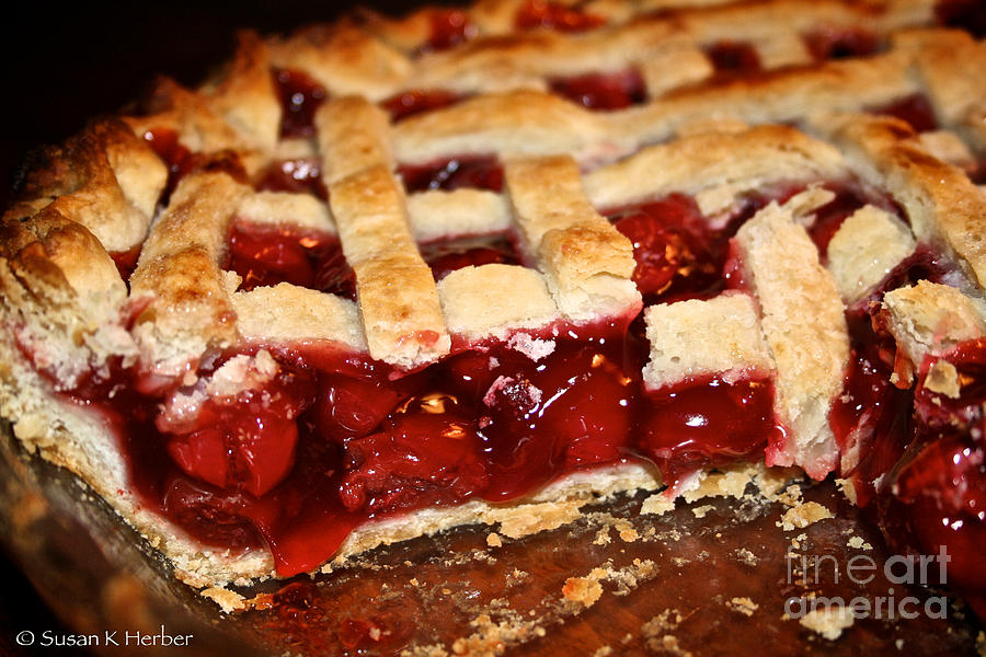 Pie Photograph - Cherry  by Susan Herber