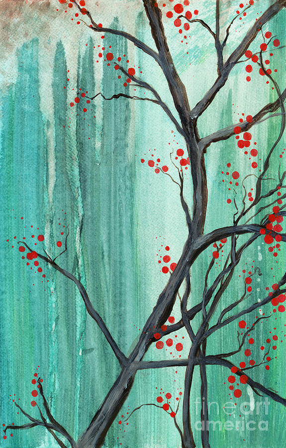 Cherry Tree Painting  - Cherry Tree Fine Art Print