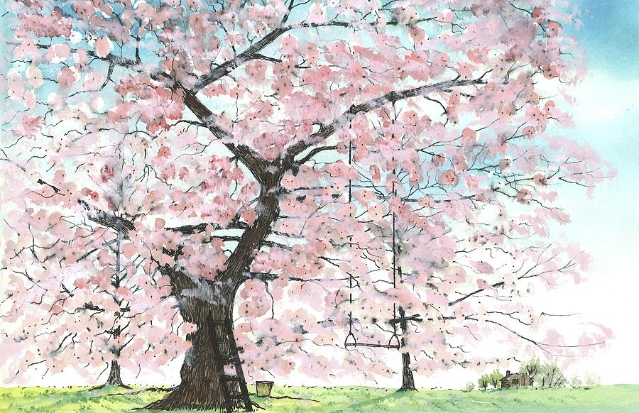 Cherry Trees Painting  - Cherry Trees Fine Art Print