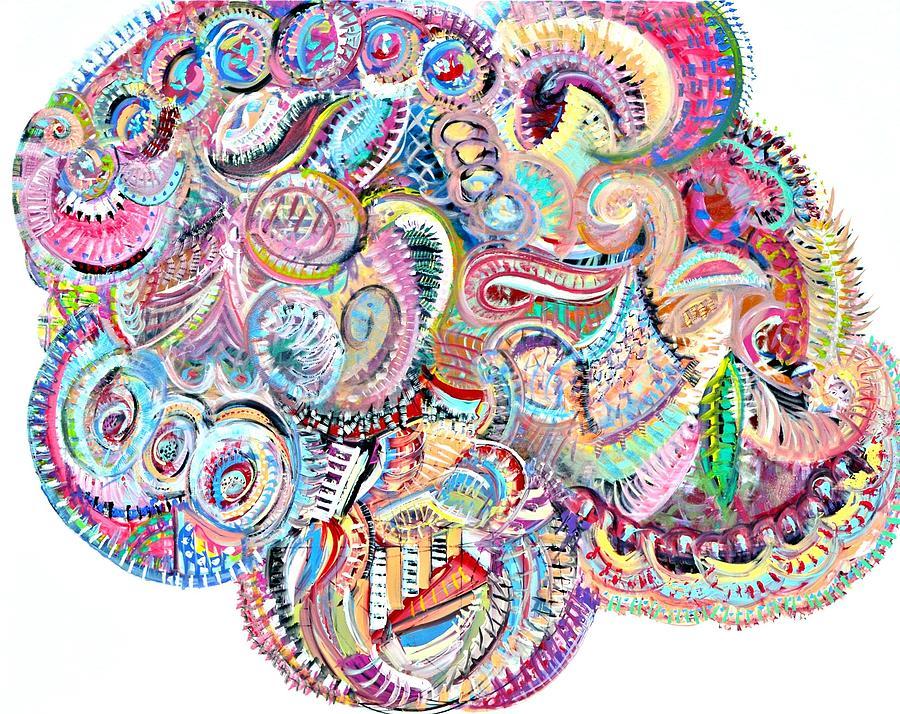 Modern Painting - Cherubim Beryl by Johnny Johnston