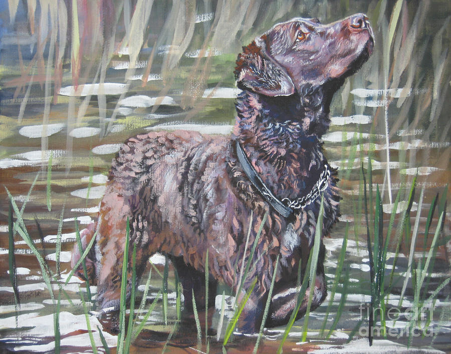 Chesapeake Bay Retriever Bird Dog Painting