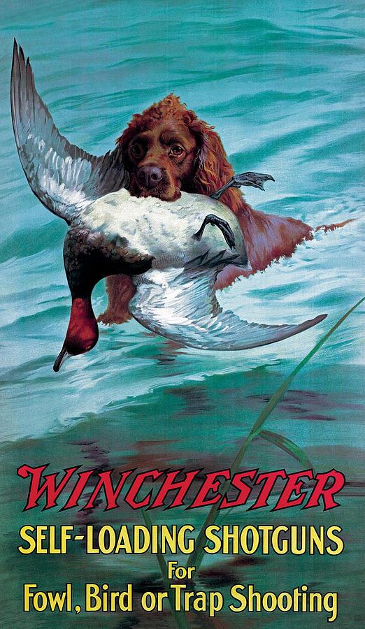 Chesapeake Retriever With Duck Painting