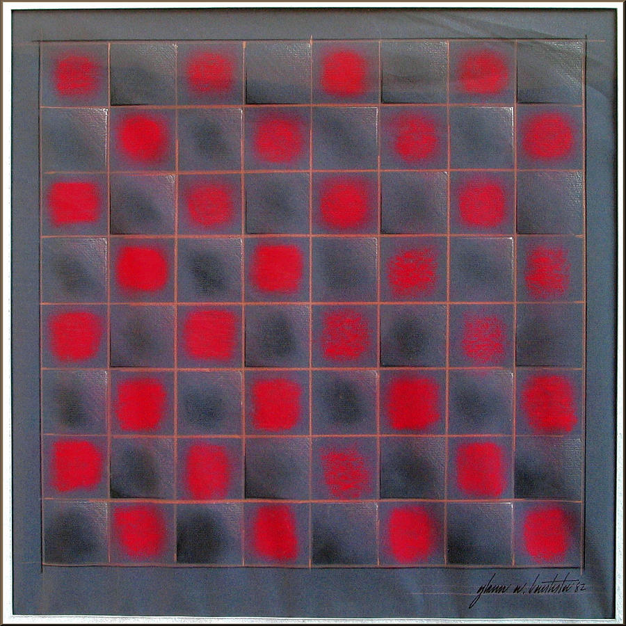 Chess Board Pastel - Chessboard 1982 by Glenn Bautista