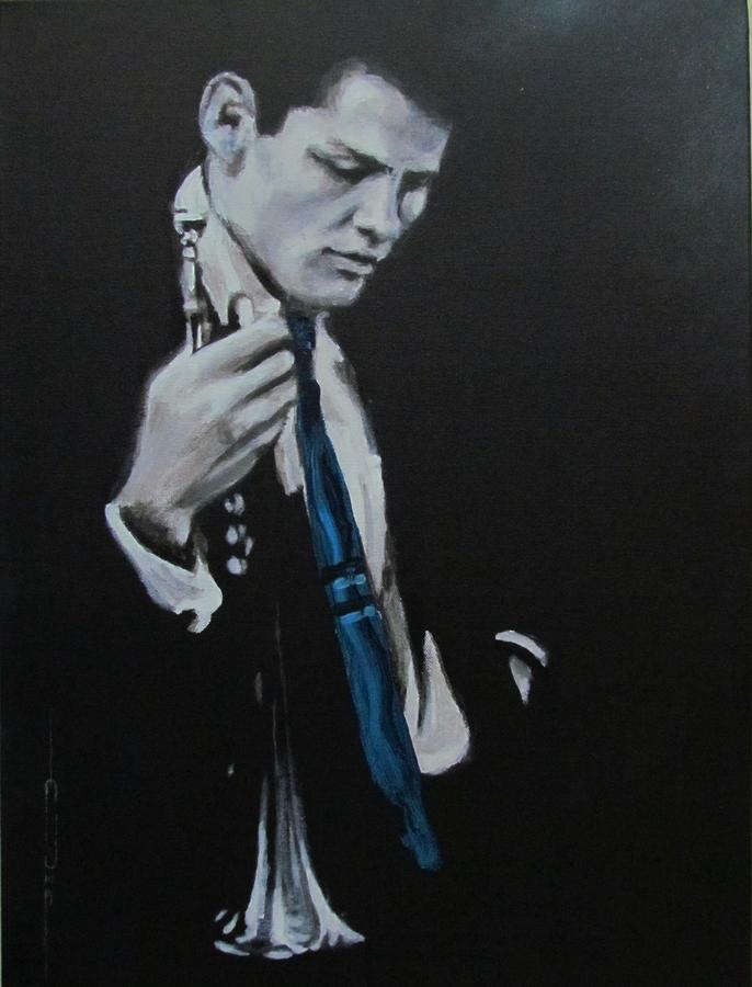 Chet Baker - Almost Blue Painting  - Chet Baker - Almost Blue Fine Art Print