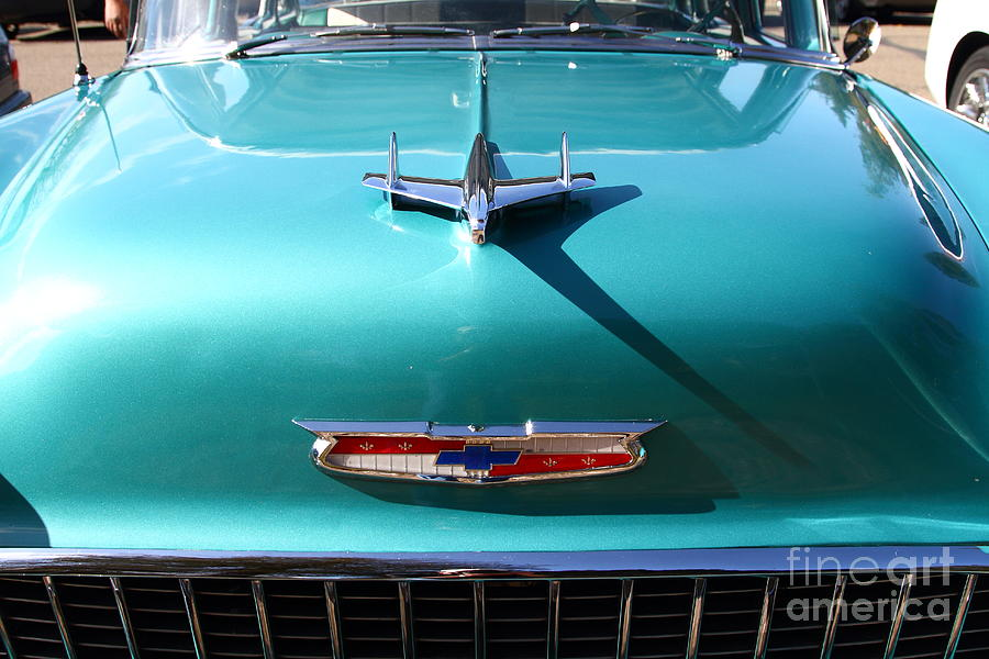 Chevrolet Bel-air . Blue . 7d12850 Photograph