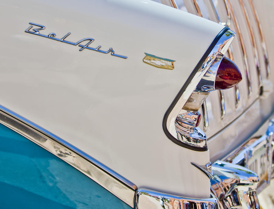 Chevrolet Bel-air Taillight Photograph  - Chevrolet Bel-air Taillight Fine Art Print