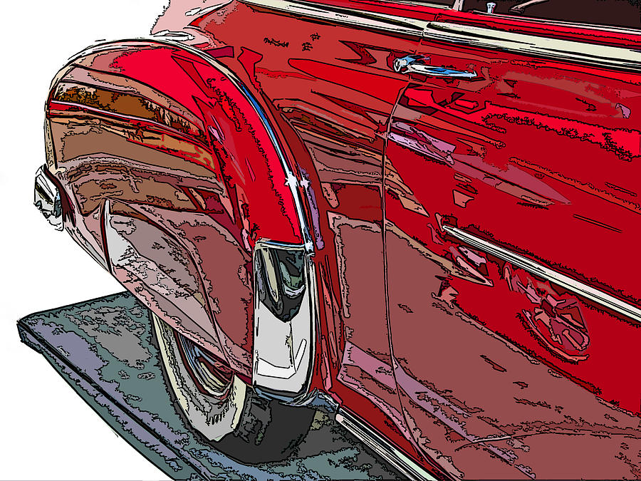 Chevrolet Fleetline Deluxe Rear Wheel Study Photograph