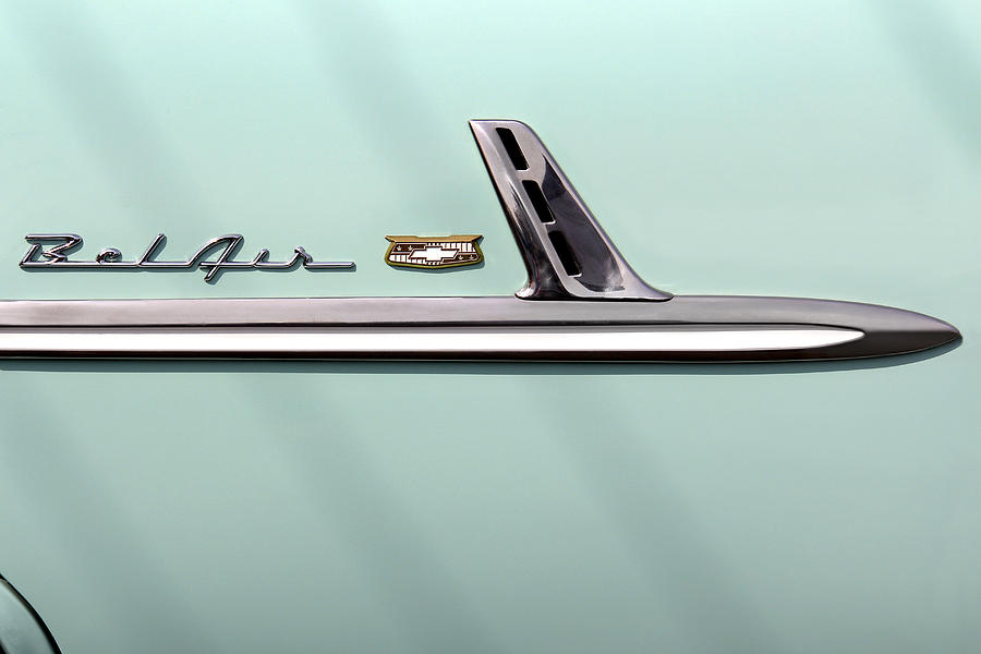 Chevy Belair Trim - 4 Door Photograph  - Chevy Belair Trim - 4 Door Fine Art Print