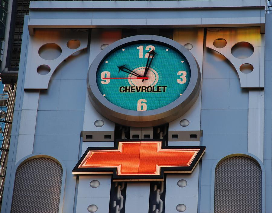 Chevy Times Square Clock Photograph