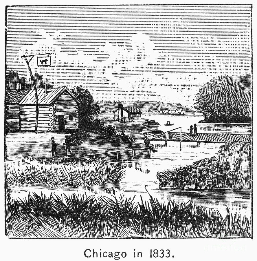 Chicago, 1833 Photograph