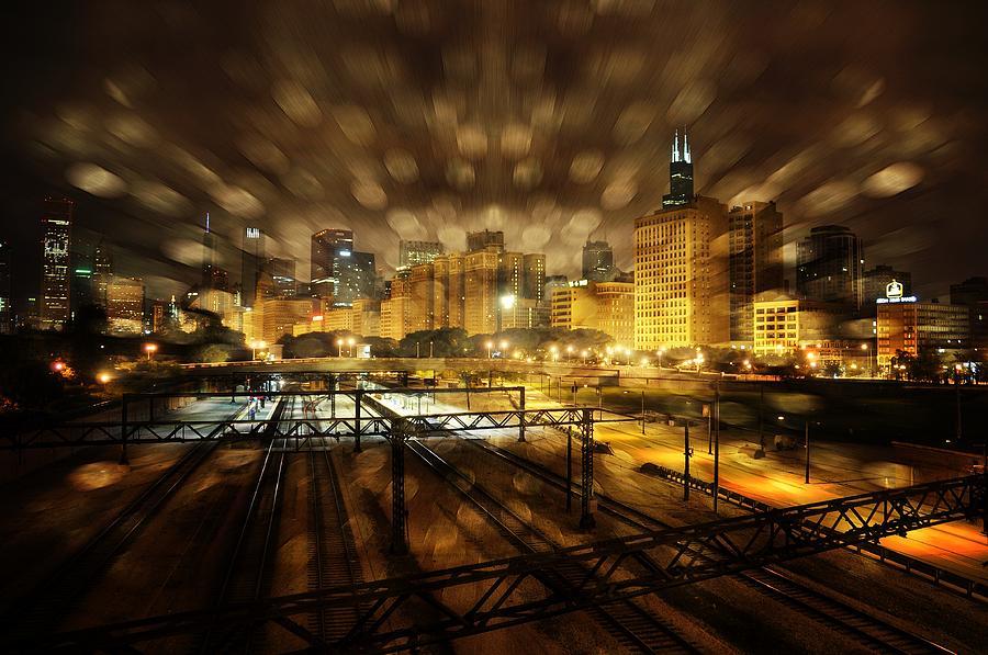 Chicago At Nite. Digital Art