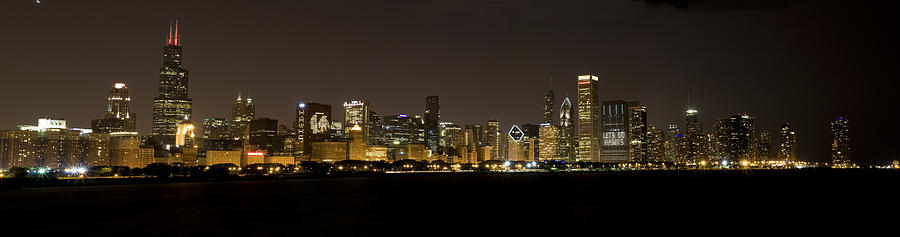Chicago Black Hawks Skyline Photograph  - Chicago Black Hawks Skyline Fine Art Print