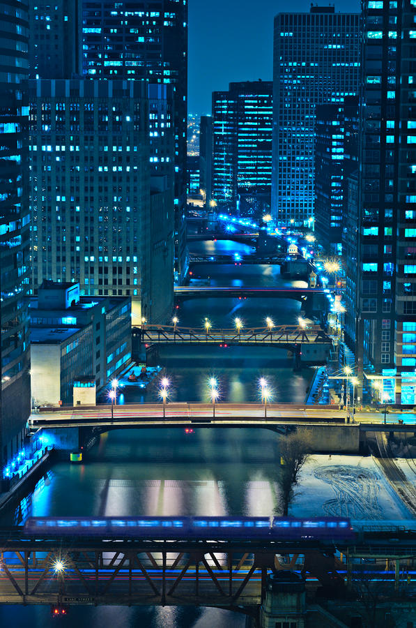 Chicago Bridges Photograph