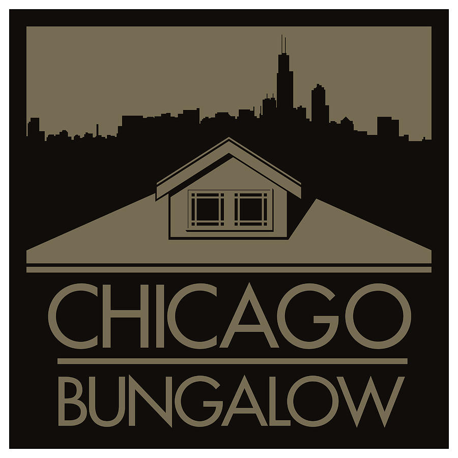 Chicago Bungalow Digital Art  - Chicago Bungalow Fine Art Print