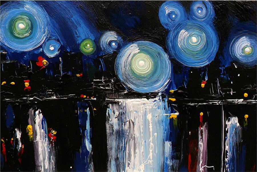 Chicago Painting - Chicago City Lights by Skye Taylor